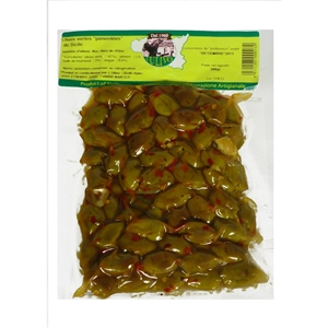 Image de Olives vertes pimentées de Sicile 300 gr