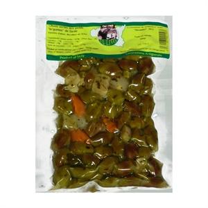 Image de Olives vertes aux petits légumes de Sicile 300 gr