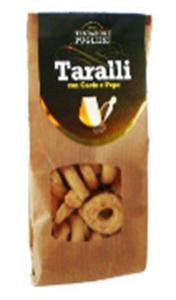 Image de Taralli au fromage italien et poivre 250 gr
